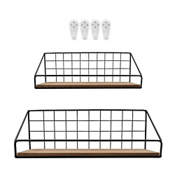 Wall Storage Shelf for Bathroom Kitchen Bedroom Black Wall Mounted Floating with