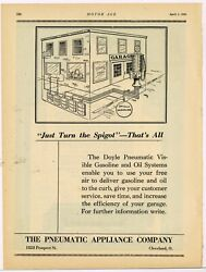 1920 Pneumatic Appliance Co. Ad Doyle Visible Gas And Oil Pumps - Cleveland, Ohio