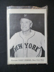 Vintage 1962 Jay Publishing New York Mets Picture Pack Set W/hodges And Stengel
