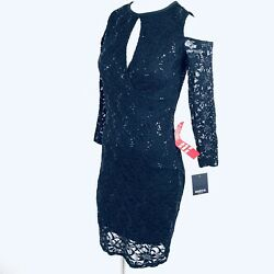 Marina Black Sequin Cold Shoulder Women Dress. Size Small. NWT $20.99