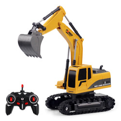 New Yellow Color Rc Excavator Mini Truck Rechargeable Simulated Gift Toy Kids