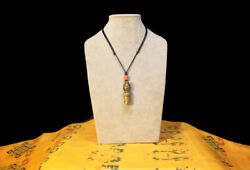 @1800s Old Antique Tibet Buddhism Alloy Copper/iron Seal Stamper Pendant Amulet@