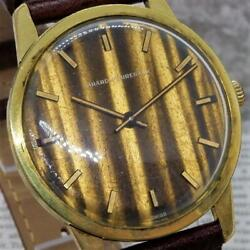 Girard Perregaux A0131 Manual Winding Antique Wood Style 1970s