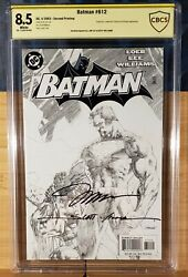 Batman 612 Cbcs 8.5 Signed Lee And Williams Bandw Sketch Cgc Primo Sig Placement