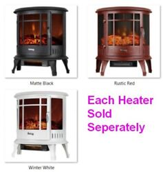 Free Standing Electric 1500w Fireplace Heater, Realistic Wood Flames, Adjustable