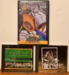 Baylor University Bears 2 Dvd/cd Golden Wave Marching Band/believe Again/1980 Co
