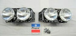 1971 1972 1973 1974 Dodge Charger Restored Concealed Headlight Bucket Assemblies