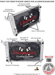 4 Row Jamn Champion Radiator W/ 2 12 Fans For 1996 Ford Mustang V8 Engine