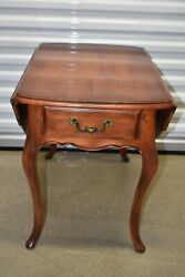 Ethan Allen Country French Drop Leaf End Table Birch 26-8302 236 Fruitwood 1988