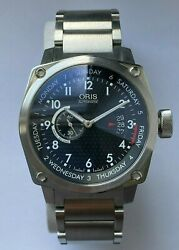 Oris Watch - Automatic - Black Dial/silver Strap - Bc4 Day/date - Preowned - O15