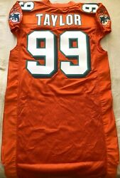 Jason Taylor Miami Dolphins 2004 Authentic Reebok Team Issued Orange Game Jersey