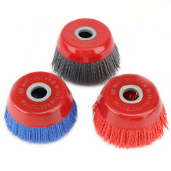 4'' 16mm Hole Nylon Abrasive Wire Brush 80-240 Grit Cup Grinding Wheel 1-3pcs