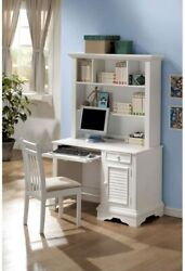 White Shutter Computer Desk With Hutch Youth