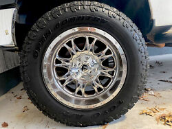 """20"""" Chrome Fuel Rims And 35x12.50 Toyo Open Country Atextreme Tires"""