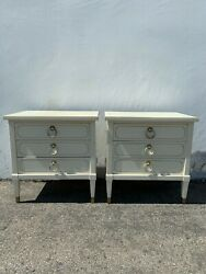Pair Of Nightstands Set Bedside Tables Side Accent Stand Shabby Chic Regency