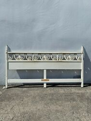 Antique Headboard Regency Empire French Provincial Hollywood Glam Bed King