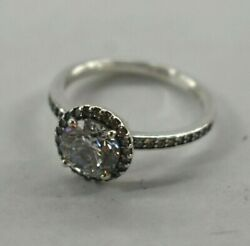 Pandora Authentic Ring 196250cz-52 Classic Elegance Ring Clear Cz Size 6 Silver