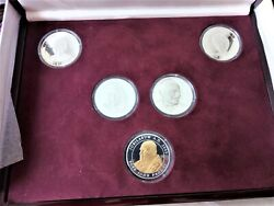 Rare Champions For Peace Coin Set - 5 X 1 Oz 999 Silver Coins