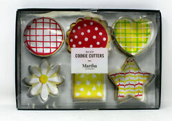 Martha Stewart Collection Set Of 6 Assorted Shape Cookie Cutter Stainless Steel