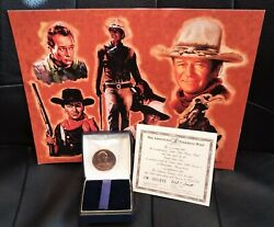 Collectible 1 Gold Plated Commemorative Medal - John Wayne Tribute New Nm+