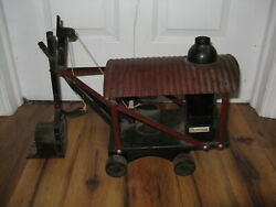 Antique 1920's Pressed Steel Bowman Heavy Duty Steam Shovel And Digger Rare Vtg