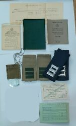 Lot Of Personal Documents And Stuff Of Israeli Soldier Officer Idf Vintage Rare