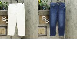 New Ella Moss Womenand039s High Rise Slim Straight Ankle Jeans. 1369396-new