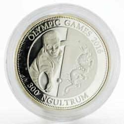 Bhutan 300 Ngultrums Olympic Games 2016 Series Table Tennis Silver Coin 2013