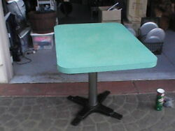 Vintage 1950s Formica Restaurant Tables 4 Of Them 30x42 3 Bases 1 Is 3ft X3