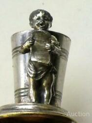 Fraget Norblin And Co Warszawa Antique Imperial Silver Cup Girl Reads Book Signed