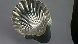 Solid Silver Shell Dish Form Of A Clam Shell On Three Ball Feet 1973 Ladies Golf