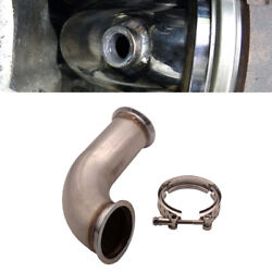 3 Inlet 3.75 Outlet 90anddeg Universal Car Downpipe V-band W/clamp Pipe Short Leg