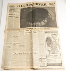 Observer Review Newspaper 20 July 1969 Neil Armstrong Moon Landing Apollo 11