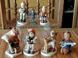 Lot Of 7 Hummel Goebel Porcelain Figurines Vintage Excellent Condition