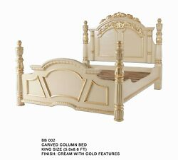 Carved Column Bed Mahoganyfree Deliveryr.r.p Andpound2500free Delivery Uk Mainland