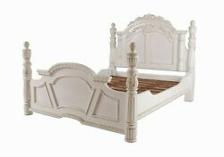 Carved Column Bed Mahoganyfree Deliveryr.r.p Andpound2500antiue Whitefree Del.