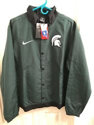 Michigan State Spartans Nike Dna Bomber Jacket Mens Size Large Loose New