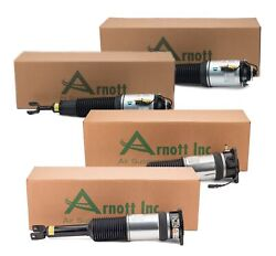 Arnott Front New And Rear Reman Air Struts Kit For Audi A8 Quattro Std Suspension
