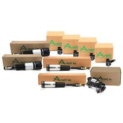 Arnott Front Rear Air Strut Compressor And Sensor Kit For Mb W220 S-class Airmatic