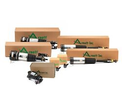 Arnott Front And Rear Air Struts Compressor Sensors Kit For Mb W220 S-class 4matic