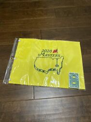 2020 Masters Golf Flag Embroidered Pin Flag Authentic With Bonus Masters Cards