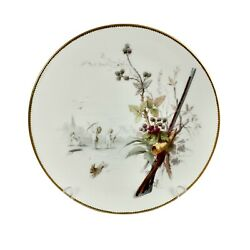 Minton Plate, Putti And Rabbit Scene By A. Boullemier, Ca 1885