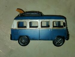 """Vintage Vw Classic Hipster """"woodstock Tin Toy Van Arts And Crafts 1960's"""