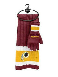 Nfl Washington Redskins Scarf And Gloves Set With Free Shipping