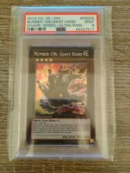 Yu Gi Oh Number 106 Giant Hand Ycsw-en006 Mint Psa 9 Super Rare Prize Card