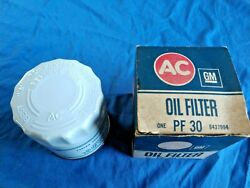 Nos Ac Pf 30 Embossed Oil Filter Oldsmobile Cadillac Gmc 1968-70 442 W30 455 +