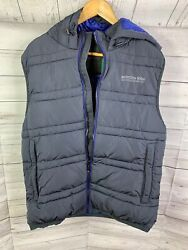 Scotch And Soda Blue Puffer Vest-dark Blue And Black Available