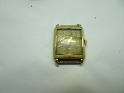 Longines Wittnauer 23z Waffle Dial Vintage Watch Runs Stops For Restoration