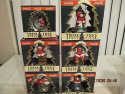 Nine Coca Cola Trim A Tree Collection Ornaments And One Bottling Works Collection