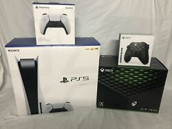 Xbox Series X And Ps5 Disc Consoles With Extra Controllers Ships Fast